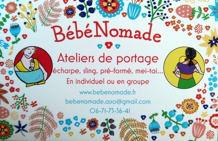 Carte De Visite Bebe Nomade